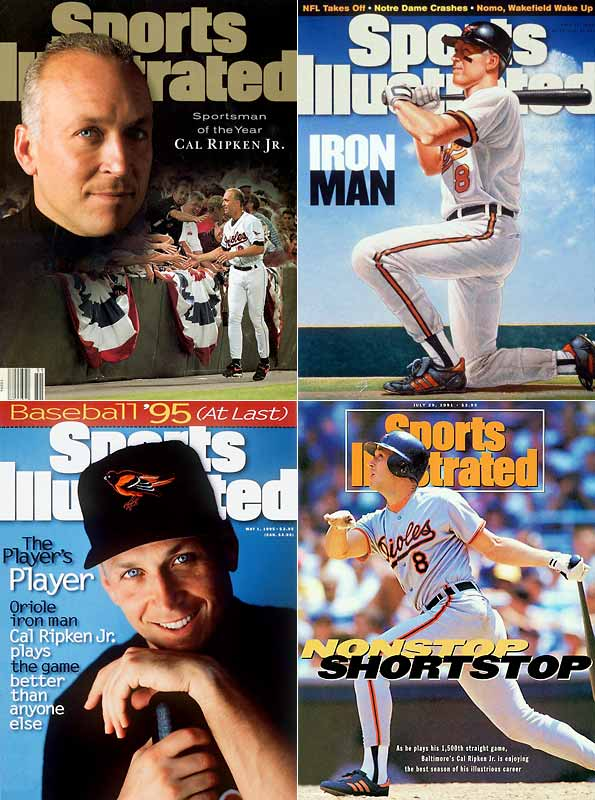 Ripken's long chase of  Lou Gehrig's 2,130 consecutive games played ended Sept. 6, 2005 when the Baltimore shortstop broke the mark in Baltimore before a national television audience. He ultimately exceeded Gehrig's record by 502 games before taking a seat on Sept. 20, 1998.