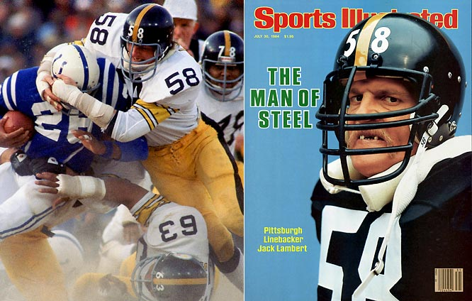 A devastating hitter and masterclass intimidator, Lambert anchored the Steel Curtain defense from the middle linebacker position. The Ohio native and Kent State product won four Super Bowls in 11 years with Pittsburgh, amassing more than 1,400 tackles, 28 interceptions and 23.5 sacks.