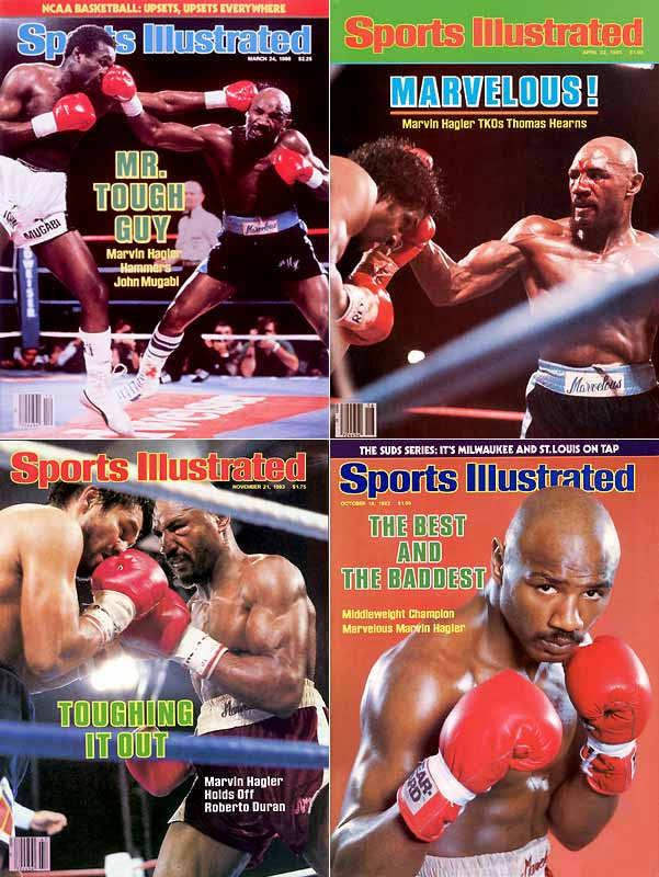 "Hagler retired in 1987 with a career record of 62 wins, three losses and two draws, establishing himself as history's greatest middleweight. But it was his triumph against Thomas Hearns -- in a brief and brutal 1985 fight known simply as ""The War"" -- which elevated Hagler from champion to legend."