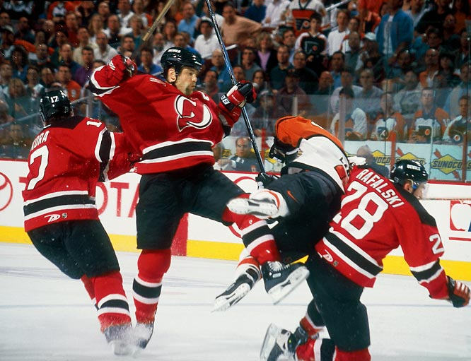 During his 22-year career with the Capitals, Blues and Devils, Stevens turned the open-ice hit into an art form. If you don't believe us, just Eric Lindros, Paul Kariya, Joe Thornton or Slava Kozlov.