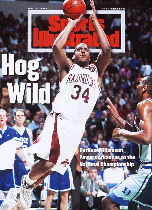 Scotty Thurman's high-arcing three-pointer with 53 seconds left helped seal the Razorbacks' win over the Blue Devils.