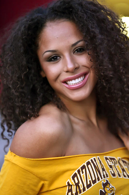 Meet Brittany, a junior broadcast journalism major at Arizona State and a Phoenix Suns dancer. That's right, student by day, professional cheerleader by night. The proud Sun Devil likes watching Tyler Perry movies, playing video games and eating big bowls of ice cream. Wanna find out more? Click on the 20 Questions link below.
