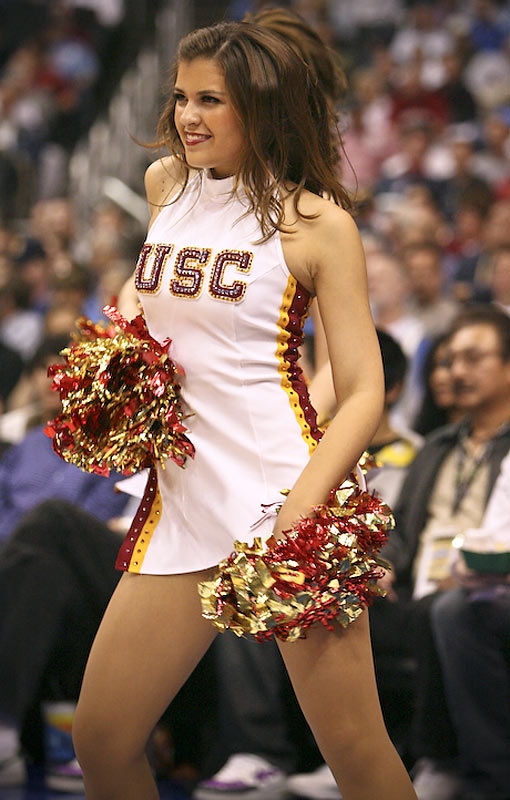Meet Allison, a junior at USC and proud member of the Song Girls. When she's not cheering on her Trojans, you can find Allison enjoying a chocolate frosty from Wendy's or wondering what happened to her Phoenix Suns. Wanna find out more? Click on the 20 Questions link below.