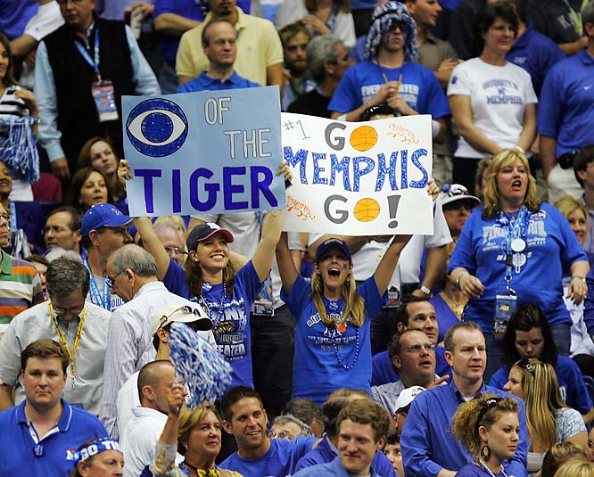The eye of the Tiger wasn't enough for Memphis to get past Kansas in the NCAA tournament finals.