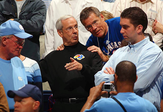 Once his UNC squad was eliminated, Roy Williams jumped right on the Kansas bandwagon.