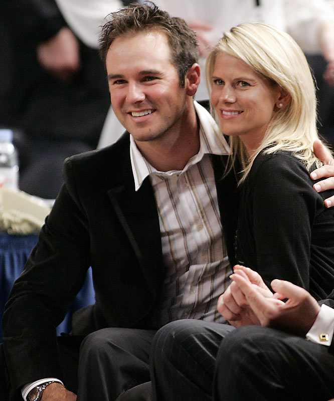 Trevor Immelman celebrated his Masters win by sitting courtside at Madison Square Garden with his wife, Carmenita,for Monday's Knicks-Celtics game.