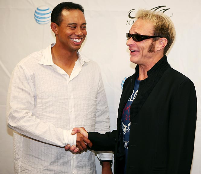 Who knew Tiger Wood was such a big David Lee Roth fan?