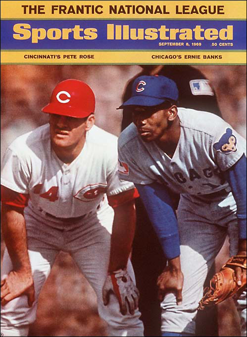 The summer of '69 is certainly special to the city of Chicago, but not for the same reasons as musician Bryan Adams. Hall of Famers Ernie Banks, Ferguson Jenkins, and Billy Williams steered the Cubs to a massive 8 1/2 lead over St. Louis and a 9 1/2 advantage over the Mets in August, but the Amazin's would steamroll them while Chicago faded in September. The Cubs missed out on the playoffs by eight games.