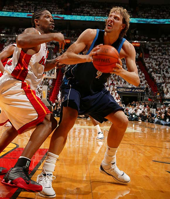 Dirk Nowitzki and the Dallas Mavericks won the first two games of the 2006 NBA Finals and were ahead 89-76 in Game 3. They ended up losing 98-96 and dropped the next three games too, becoming the 10th NBA team to squander a 2-0 lead in a best-of-seven series.