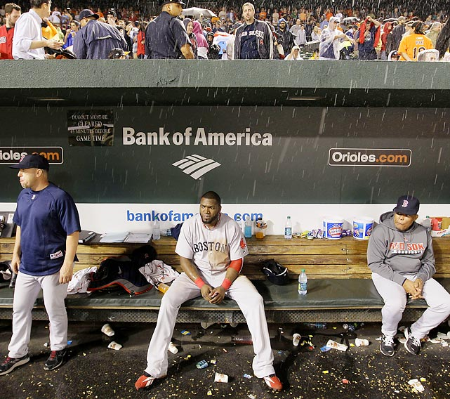 The Red Sox led not just the wild card, not just the division but the entire American League going into September. Boston went 7-20 the rest of the way, seeing the hated Yankees pass them for the East lead and, on the final day of the season, the Rays complete their comeback from nine games down to snatch the wild card. On the final night, the Red Sox lost on an Orioles walk-off in the ninth inning, and the Rays, down 7-0 in the eighth, walked off on an Evan Longoria home run in the 12th to beat the Yankees. The two games finished within minutes of each other. The Red Sox's September collapse, squandering a nine-game lead, is the greatest in MLB history. Only one team, the Twins (6-20), was worse over the final month.