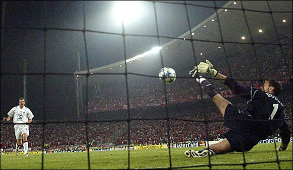 And you thought the U.S. soccer team losing to Ghana was tough. In the 2005 UEFA Champions League final, heavily favored AC Milan led Liverpool F.C. 3-0 at halftime thanks to Paolo Maldini and Hernan Crespo. But Liverpool engineered what some call the greatest comeback in soccer history, returning the favor and then winning on penalty shots, 3-2.