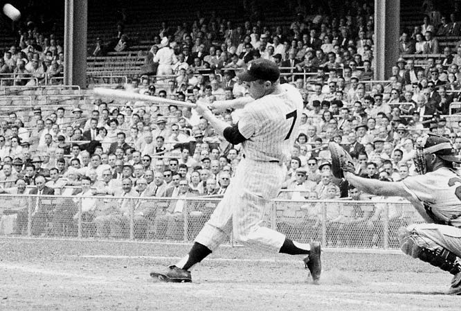 The iconic 1950s baseball player, Mantle played on seven World Series winners and won three MVP awards (1956, '57, '62). He clobbered 536 career homers over 18 seasons with the Yankees.   Runner-up: Al Simmons  Worthy of consideration:  Craig Biggio and Ivan Rodriguez