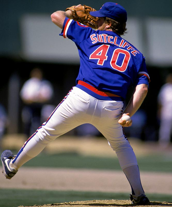 In 1984, he put together one of the great pitching half-seasons in the modern era: Sutcliffe went 16-1 with a 2.69 ERA and seven complete games after being acquired by the Cubs from the Indians in June of that season. Sutcliffe was a three-time All-Star and won the NL Cy Young in 1984.<br><br>Runner-up: Don Wilson<br><br>Worthy of consideration: <br>Bartolo Colon, John Denny, Troy Percival<br> and Frank Tanana