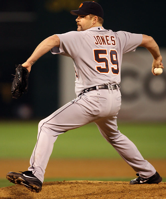 Through 10 stints with eight teams during 16 major league seasons, Jones carved out a prolific career as a middle reliever and part-time closer. Despite making just one All-Star team -- Jones paced the AL with 42 saves in 2000 -- the  right-hander collected 319 saves in his career.   Runner-up: Ismael Valdez (Dodgers)  Worthy of consideration:  Derrick Turnbow and Kelly Wunsch
