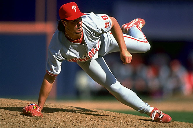 Williams wore the famed 99 for three years, including a memorable 1993 season when he was part of a Phillies team that won the National League pennant. He was the pitcher on the wrong side of one of baseball's most memorable homers: Joe Carter's World Series-winning blast in the bottom of the ninth of Game 6 of that year's Series. His 192 career saves ranks 39th on the all-time list.   Runner-up:  Turk Wendell (Mets, Phillies, Rockies)  Worthy of consideration: So Taguchi