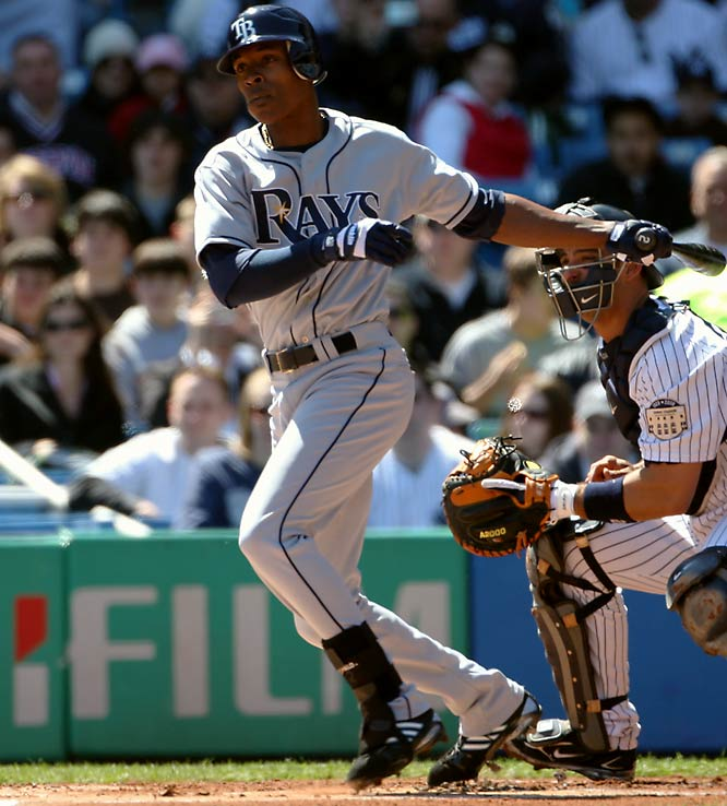 Justin Upton's older brother, B.J. is coming off a season in which the Rays' second baseman was one of only five players to bat .300, hit 20 home runs and steal 20 bases.