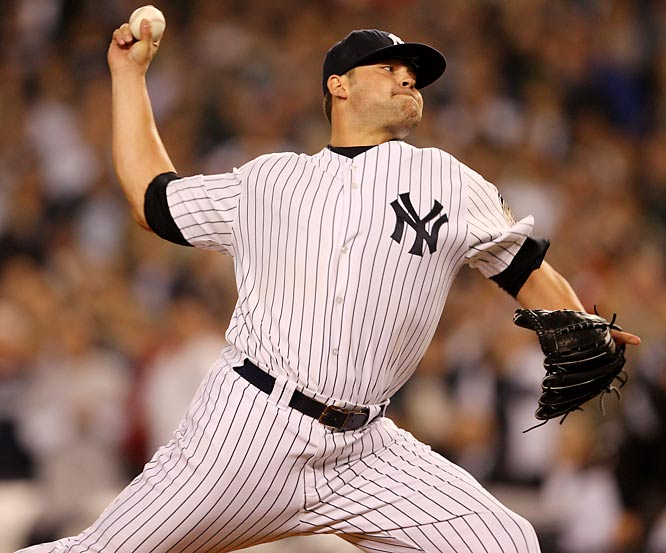 Not only did he exceed Yankee expectations with an anemic 0.38 ERA over 24 innings in '07, but also recent news of his 100  MPH heater make him the top setup man in the league.