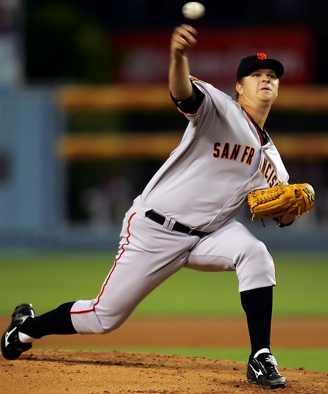 The 23-year-old Giants' ace posted a sub-par 7-16 record last year, but his 3.65 ERA was 10th best in the NL and his workhorse-like mentality, along with some run support, figures to result in a much better record this season.