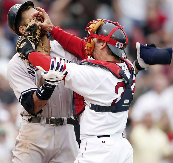 The Red Sox were playing listless baseball until an A-Rod-Jason Varitek tussle sparked a brawl and an 11-10 comeback win for Boston. The Red Sox posted a 45-20 record the rest of the season on their way toward the World Series title.