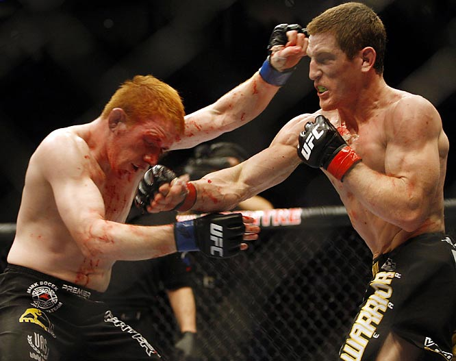 Danzig, a T.U.F. 6 winner, hands Canadian fighter Bocek another fist to the face before earning a third-round submission for the lightweight victory on April 19.