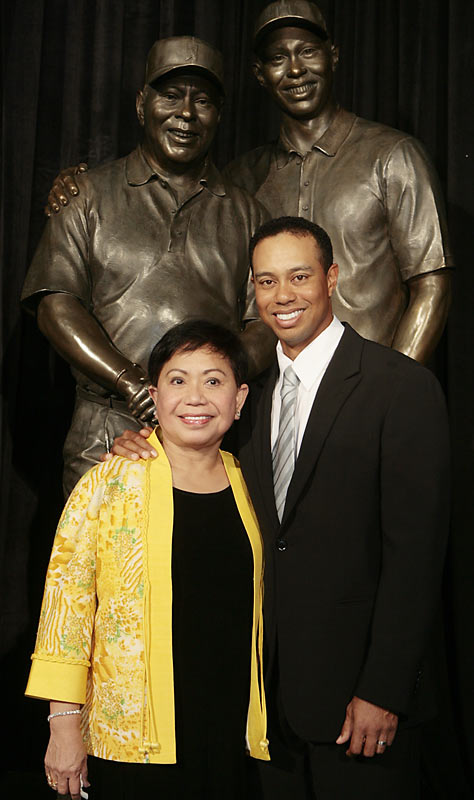 Golfing great Tiger Woods is often seen with his mother, Kultida.