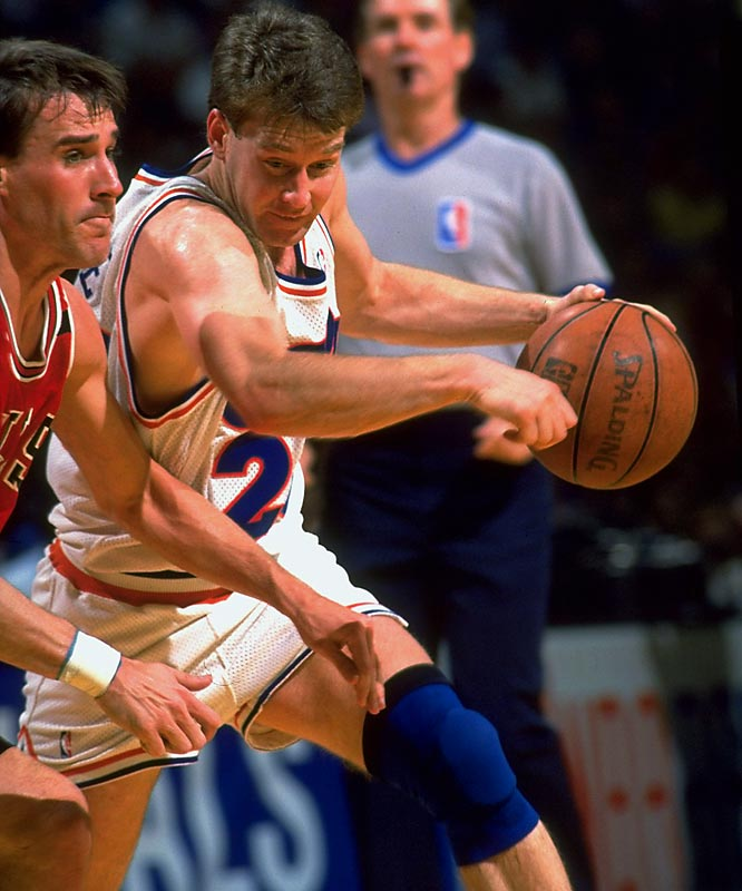 <i>1990-91</i>: 33-49 <br><i>1991-92</i>: 57-25 (24 more wins)<br><br>Cleveland's steady climb to Eastern Conference contender took a detour in '90-91 when Mark Price, left, went down with a torn ACL. Price's return to health the following season, along with the contributions of Brad Daugherty, Larry Nance and Terrell Brandon, put the Cavs right back in the race before running into Michael Jordan's Bulls (again) in the playoffs.