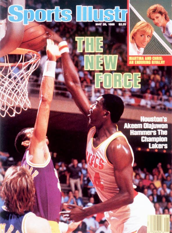 On the heels of a promising rookie campaign, Olajuwon averaged 23.5 points, 11.5 rebounds and 3.4 blocked shots during his second pro season. Houston won the Midwest Division and advanced to a Western Conference Finals showdown with reigning league champion Los Angeles. The Rockets dominated the Lakers, four games to one, but dropped a six-game NBA Finals to a Boston team frequently mentioned among the best teams in history.