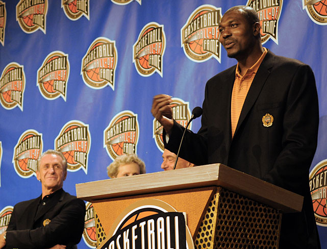 Roughly six years after calling it quits, Olajuwon was inducted into the Naismith Hall of Fame alongside fellow legends including Pat Riley, Patrick Ewing and Adrian Dantley. Since his retirement, The Dream has split his time between living in Amman, Jordan, with his wife and kids, and advising current NBA stars -- including Dwight Howard, Kobe Bryant, Rashard Lewis and Emeka Okafor -- and hosting camps in Houston. And in 2010, he even developed his own clothing line, called DR34M.