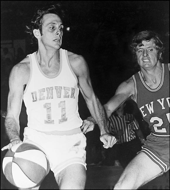 After that coaching stint at North Carolina, Brown played five seasons in the ABA, where he made three All-Star teams and led the league in assists three times. This photo, taken in March 1972, shows Brown during his final season as a pro, playing point guard for the Denver Rockets.