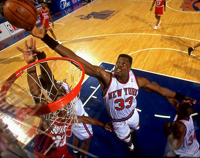 Michael Jordan's abrupt retirement gave the Knicks an unexpected boost of confidence entering the 1993-94 season. Ewing averaged 24.5 points, 11.2 rebounds and 2.7 blocks and New York again entered the playoffs with the best record in the East. The Knicks defeated the Nets, Bulls and Pacers to advance to their first NBA Finals since 1973. But the Knicks would fall to the Rockets in a dramatic seven-game series despite Ewing's emphatic Game 7 guarantee.