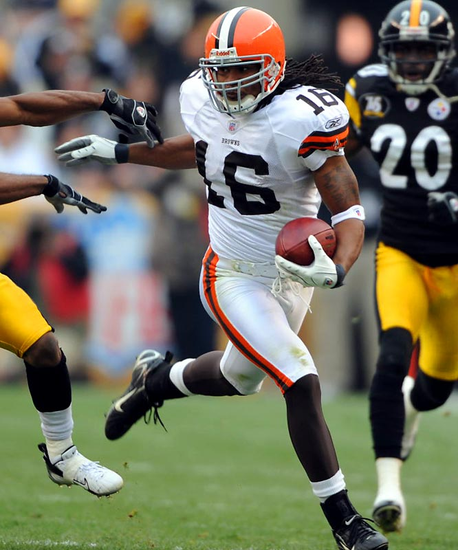 The third Golden Flash in this group, Cribbs went undrafted out of Kent State, where he played quarterback. Now with the Browns, Cribbs is one of the NFL's most dangerous return men.<br><br>Who would you add to the list? Send comments to siwriters@simail.com.