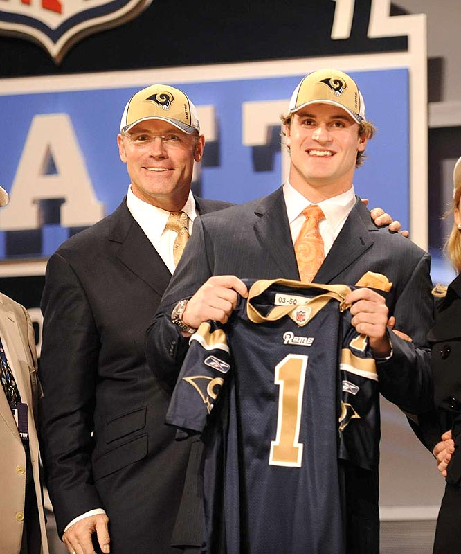 The Rams followed at No. 2 by taking Virginia defensive end Chris Long (no relation to Jake), though he is the son of Hall of Famer Howie (left).