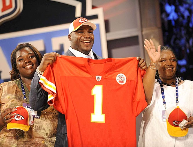 The Chiefs made Glenn Dorsey the fifth pick. The defensive tackle out of LSU won the Outland, Bronko Nagurski and Lott trophies and the Lombardi Award as a senior.
