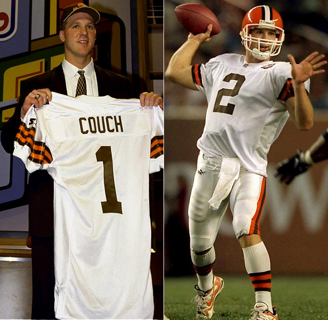 Couch's place at the head of the Quarterback Class of 1999 didn't translate add up to much in the NFL. Instead of following in the footsteps of classmates Donovan McNabb and Daunte Culpepper, Couch went the way of historical footnotes Akili Smith and Cade McNown. Attempted comebacks with the Green Bay Packers (2004) and the Jacksonville Jaguars (2007) proved futile.