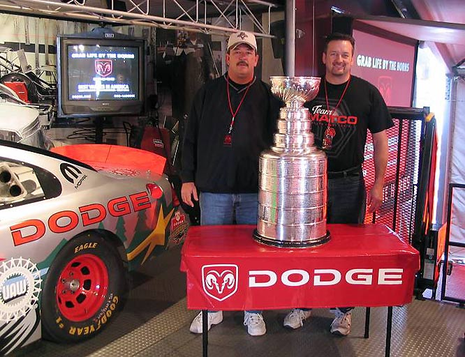 """""""Who could ask for a better weekend with their brother?  Being able to touch the cup and being able to do so while taking in the Daytona 500 with my brother who lives in Michigan. A great time and memories for life.""""--Steve Hillebrand"""