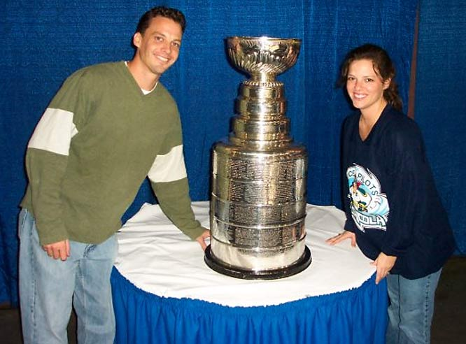 """""""My wife (Heather) and I went to a Pensacola Ice Pilots game (ECHL) and had no idea the Cup was in the house! What luck!"""" -- Sean Soltis"""