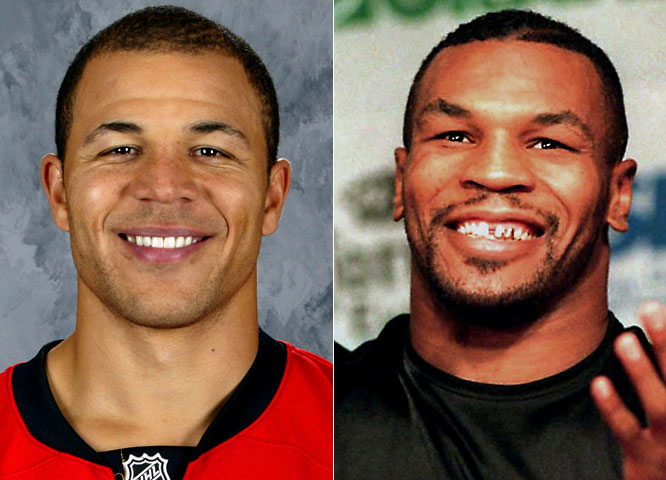 "Flames right wing Jarome Iginla has scored at least 35 goals over the past seven seasons, finishing with 50 this season, and has scored 21 times in 41 career-playoff games.<br><br>Mike Tyson is a retired boxer who was once known as ""The Baddest Man on the Planet"" and remains the youngest man ever to win a world heavyweight title (20 years and 4 months)."
