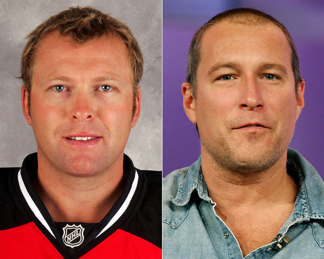 "Devils goalie Martin Brodeur is arguably one of the most dominant goalies, past and present, winning the Vezina Trophy for best goaltender three times (2003, 2004 and 2007) along with three Stanley Cups (1995, 2000 and 2003).<br><br>John Corbett is an actor who is best known for his roles on the television series ""Northern Exposure"" and ""Sex & The City."" He has a penchant for Elvis impersonations."