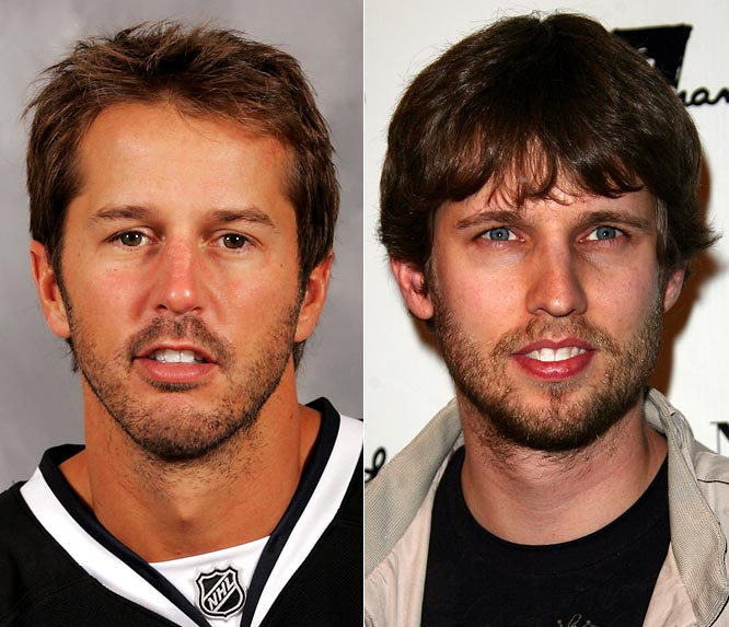 Center Mike Modano has been with the Dallas Stars since they were the Minnesota North Stars in 1989.  Although he may be past his prime, he does have 133 career-points (53 goals and 80 assists) in 156 playoff games.<br><br>Jon Heder made his debut as <i>Napoleon Dynamite</i>, and recently co-starred with Will Ferrell in the figure skating comedy <i>Blades of Glory</i>. Heder actually has an identical twin, Dan.