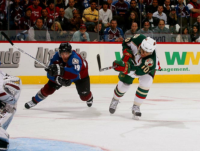 Joe Sakic and the Avalanche kept Wild sniper Marian Gaborik from scoring a single goal in the series.  Gaborik mustered just one assist in six games.
