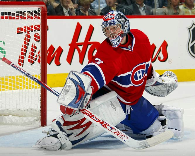Carey Price stopped 25 shots, including 11 in the opening period, for his second shutout of the postseason, leading Montreal to a 5-0 win over Boston in Game 7.  The 20-year-old rookie has a 2.09 goals-against average and .925 save percentage through the first round.