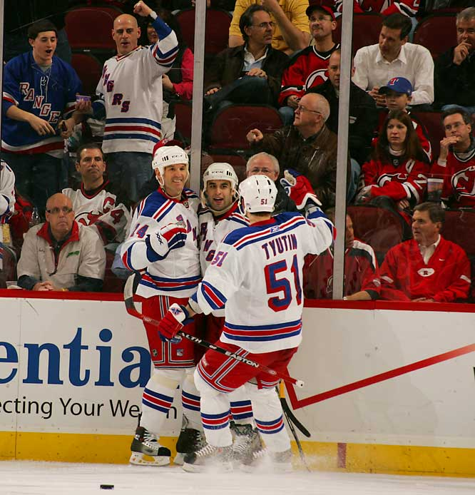 Scott Gomez burned his former team for seven points (3 goals and 4 assists) and a plus-5 in the Rangers five-game series victory over the Devils.