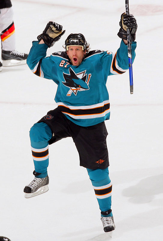Jeremy Roenick, age 38, was a healthy scratch in Game 6 after posting no points for the Sharks in their first five games against the Flames.  With a little over 12 minutes of ice-time in Game 7, JR had two goals and two assists, including the tying and go-ahead scores midway through the Sharks' four-goal second period in a 5-3 victory.