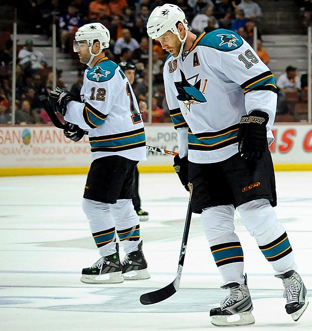 In what has become a springtime ritual in San Jose, the Sharks cap strong regular seasons with dispiriting playoff ousters. Joe Thornton (19) and Patrick Marleau (12) are the faces of a franchise that failed to advance beyond the second round for four consecutive seasons (2006-09) despite superior talent. Even a roster shakeup before the 2011-12 season failed to do the trick, and their first-round ouster by St. Louis will likely spell more change. Counting Western Conference Finals losses to Calgary in 2004, Chicago in 2010, and Vancouver in 2011, the Sharks are still in the ranks of talented teams that were never quite able to take the final step to greatness.