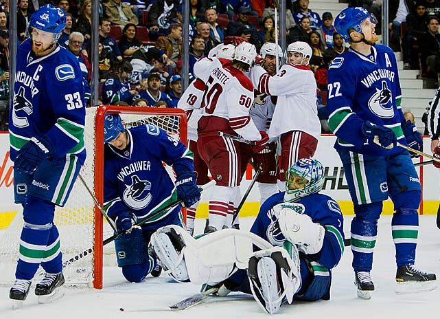 After two trips to the second round, they blew a three-games-to-two lead and suffered a bitter defeat on home ice in Game 7 of the 2011 Stanley Cup Final. The Canucks bounced back to win the Presidents' Trophy for the best regular-season record in 2011-12, but, alas, it proved to be a meaningless piece of silverware as they were upset in the first round by the eighth-seeded L.A. Kings, four games to one. The defeat unleashed speculation that longtime goaltender Roberto Luongo would traded, coach Alain Vigneault would depart for Montreal, and GM Mike Gillis's job was in jeopardy.
