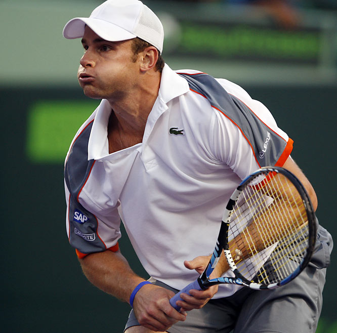 A poised Roddick willed himself to the victory, ending a streak of 11 consecutive losses against his rival.
