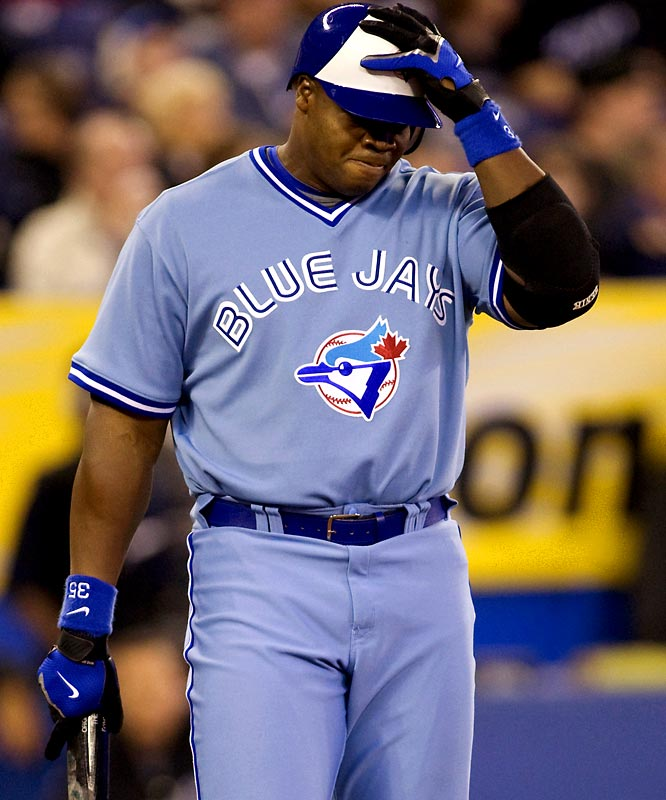 """The Blue Jays were feeling the """"Big Hurt"""" after their designated hitter went just 4-35 in recent weeks and then ripped the organization for benching him. Something had to give, and the Blue Jays decided to release the 19-year veteran."""