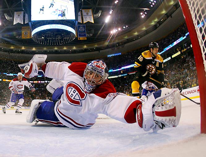 Rookie goalie Carey Price had allowed just five goals in Montreal's first four playoff games with Boston, but with the No. 1 seed Canadiens up 3-1 in the series, Price has since allowed five goals in both Games 5 and 6, forcing a Game 7 with the No. 8 seed Bruins.