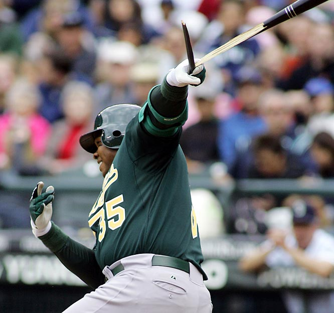 The Oakland Athletics reunited with future Hall of Famer Frank Thomas after the Blue Jays released the Big Hurt in the wake of a 4-35 slump.