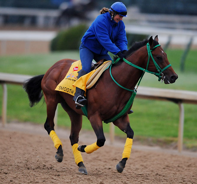 Post Position: 12<br>Trainer: Bennie Stutts, Jr. <br>Jockey: Manoel Cruz<br>Stutts is Derby week's backstretch darling, an unretouched 70-year-old saddling his first Derby horse. ''This colt has taken me on the ride of my life,'' says Stutts, who does most of his work in the game's AAA leagues. Smooth Air generated buzz by finishing second behind Big Brown's transcendent Florida Derby win almost three months after winning the Hutcheson. If the Derby gods are kind and give Smooth Air a favorable trip, he could be running to hit the board at the finish.